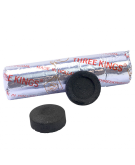 Charbon THREE KINGS par rouleau de 10